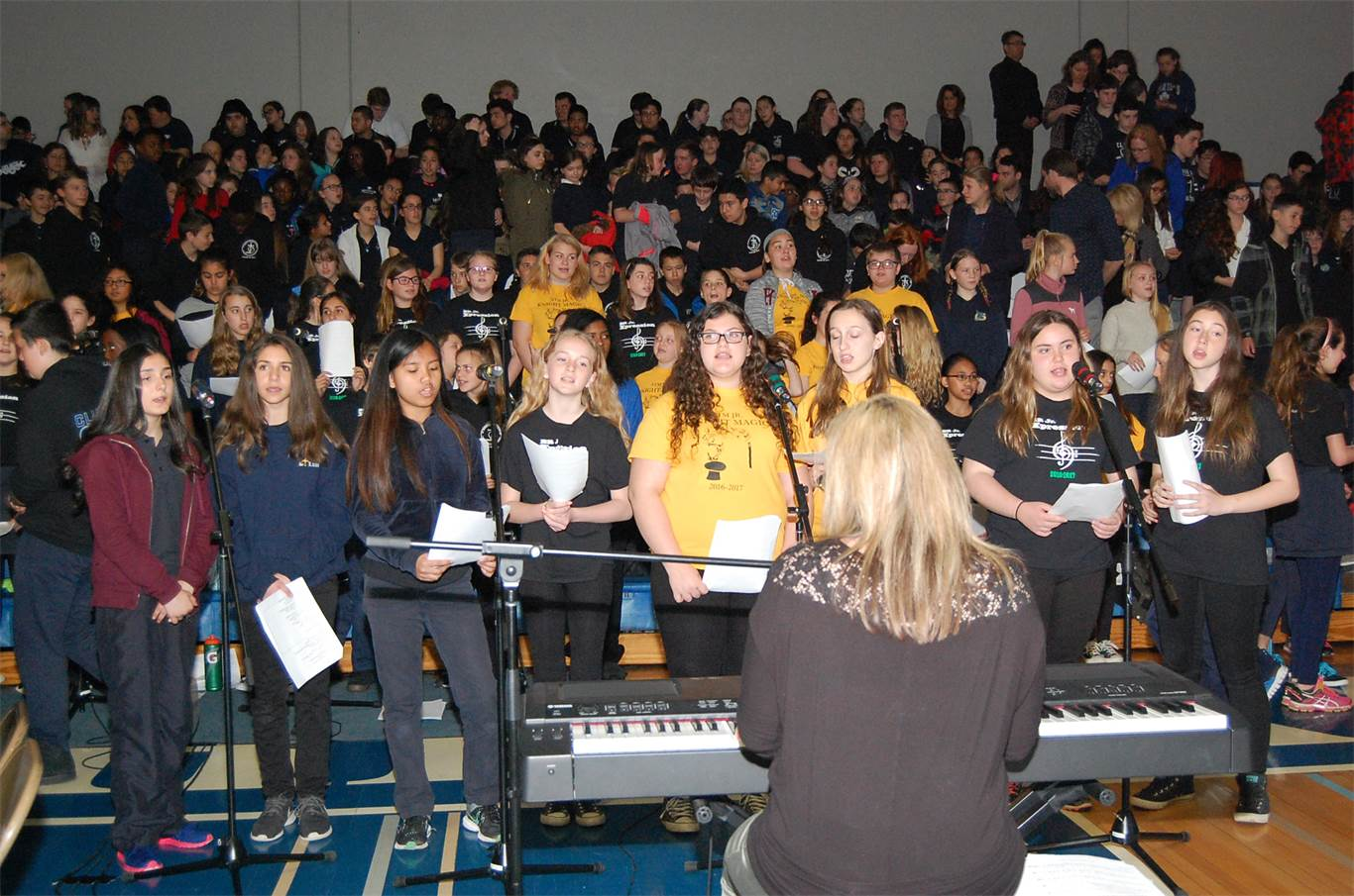 Music ministry provided by the St. Thomas More Junior Knight Magic Choir under the direction of Mary Tabone.